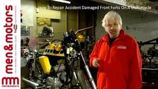 How To Replace Accident Damaged Front Forks On A Motorcycle