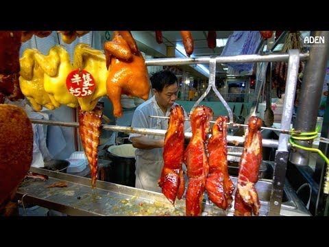 Hong Kong Wanchai Market: Chopping Ducks, Cutting Meat & Fish, Selling Dim Sum