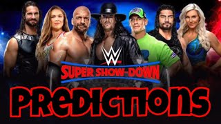 WWE Super Show-Down - Predictons