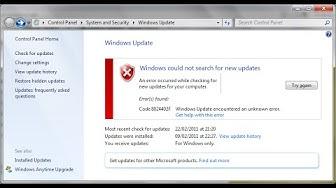 Fix all Windows update error on windows 10,8.1,8 and 7