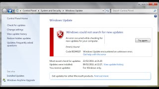 Fix all Windows update error on windows 10,8.1,8 and 7