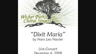 """Dixit Maria"" by Hans Leo Hassler"