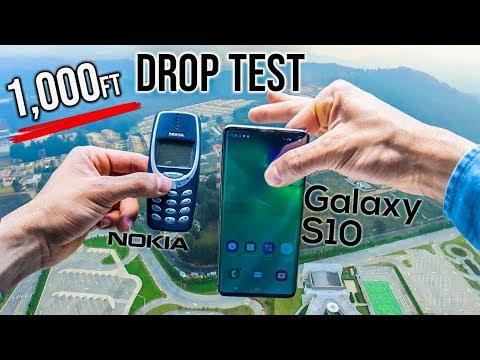 Samsung Galaxy S10 Drop Test from 1,000 Feet! - VS. Nokia 3310 | in 4K