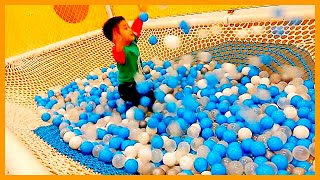 Fun Indoor Playground Anak Bermain Mandi Bola Jaring! BUUMI PLAYSCAPE 👪 Habiboy Playground thumbnail