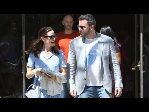Ben Affleck And Jennifer Garner Smiling After Easter Services