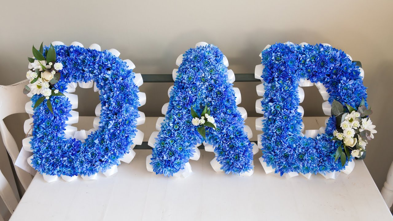 Funeral Flower Wording How To Create A Blue Dad Sympathy
