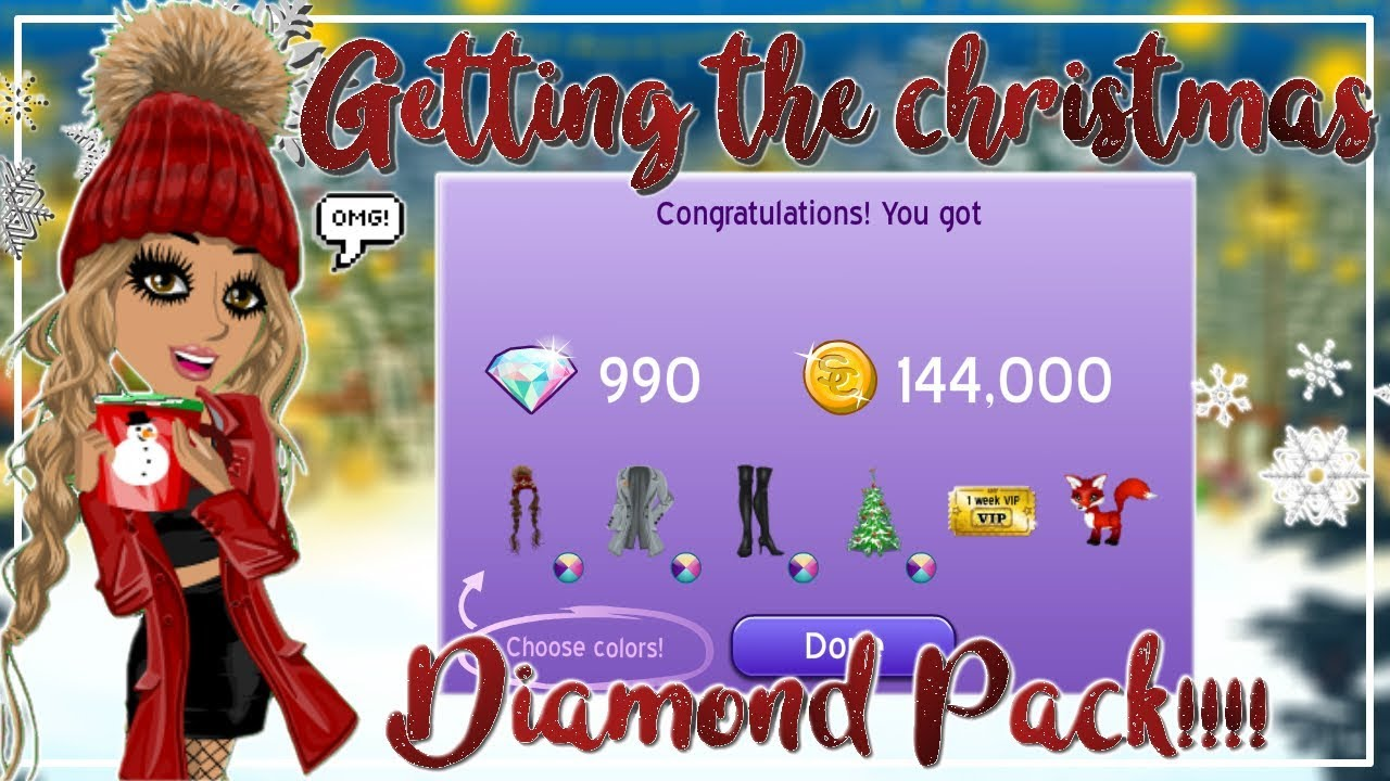 Christmas Diamond Pack Msp 2020 GETTING THE NEW CHRISTMAS DIAMOND PACK!!! LEVAL 26!!!   YouTube