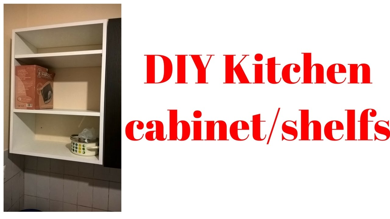 DIY kitchen cabinet/shelfs from plywood - YouTube