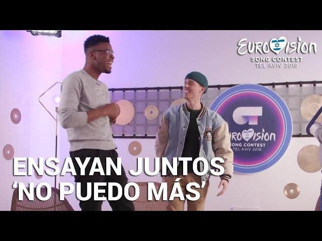 FAMOUS Y LEROY SÁNCHEZ ensayan