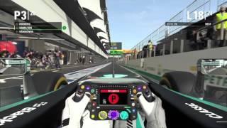 F1 2015 実況 全員抜きチャレンジ in ブラジル 23分+おまけ テイク1