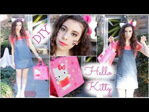 Hello kitty diy halloween tutorial makeup hair costume youtube solutioingenieria Gallery