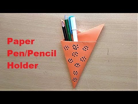 How to Make Your Own Pen Holder | Origami Pen Stand | Paper Easy Pencil Holder Tutorial