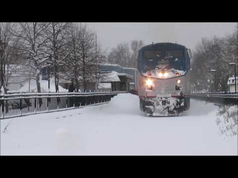 Thumbnail: Amtrak Vermonter Dashing through the snow