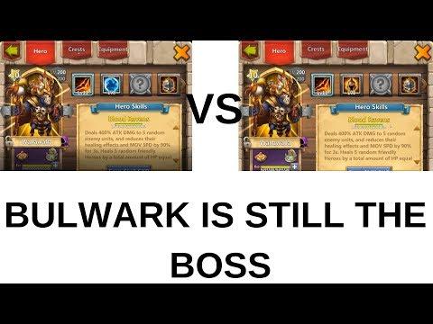 8/8 Bulwark Walla Vs 8/8 Wargod Walla! Castle Clash
