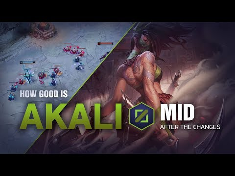 How Good Is Akali Mid? | League of Legends Patch 8.24b