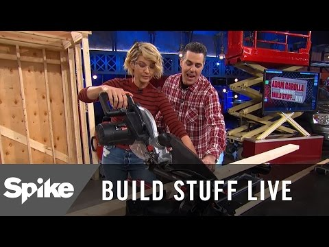 Jenna Elfman Shows Her Stuff With A Chop Saw | Build Stuff Live