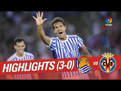 Resumen de Real Sociedad vs Villarreal CF (3-0)