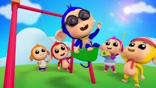 Cinco macacos pequenos canção   Rimas infantis   5 Little Monkeys   Kids Songs   Farmees Português