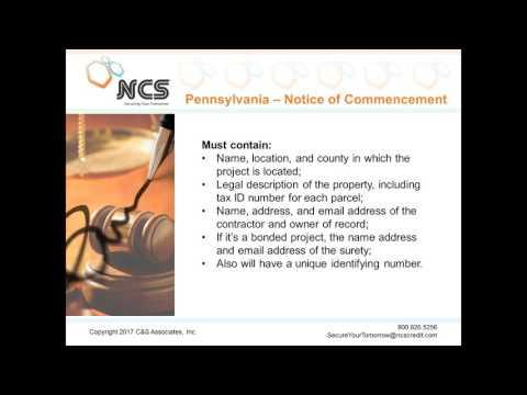 Pennsylvania Lien Law Changes