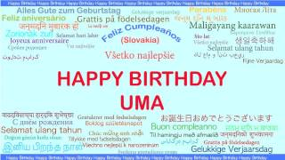 Uma   Languages Idiomas - Happy Birthday