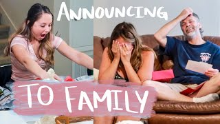 Telling Our Family We're Pregnant!