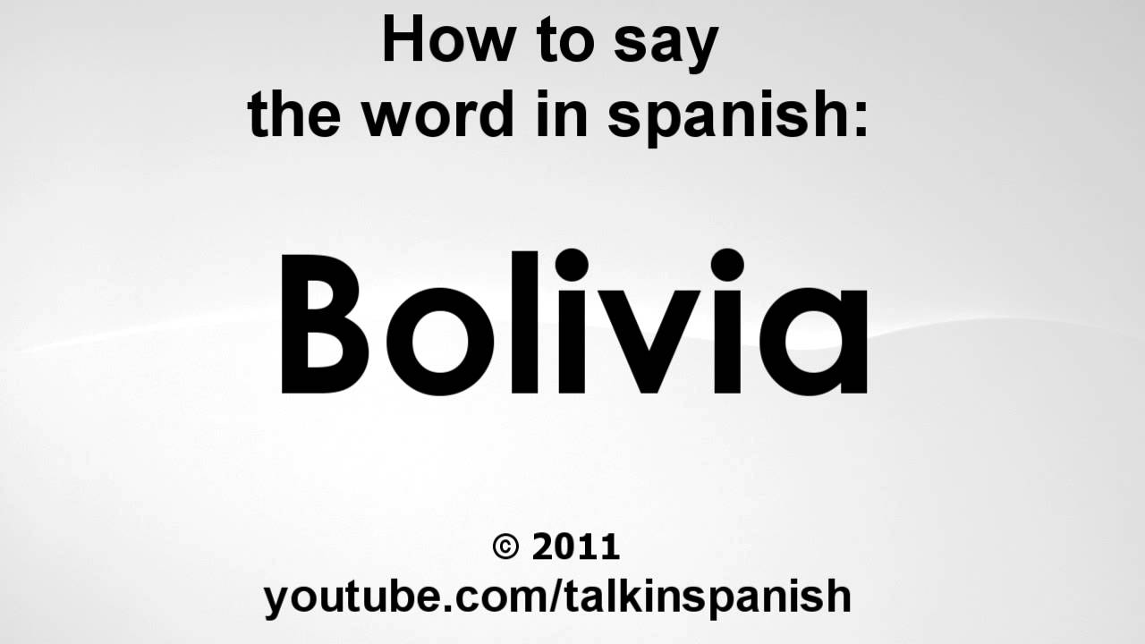 how to say world in spanish