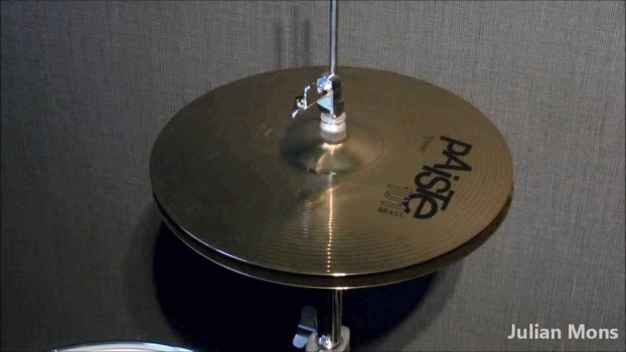 test of paiste 101 brass 13 39 39 hi hat cymbal youtube. Black Bedroom Furniture Sets. Home Design Ideas