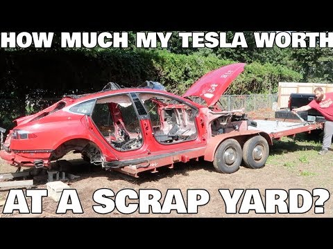 I Brought my Teslas to the Scrapyard, How Much did I get?