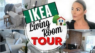 FRUGAL UPDATED LIVING ROOM TOUR 2018 MAKEOVER ● INTENTIONAL COZY IKEA LIVING ROOM IDEAS BUDGET HAUL