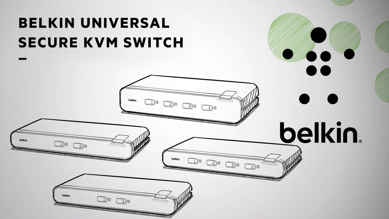 Belkin Universal Secure KVM Switch, 2 Port, Dual Head