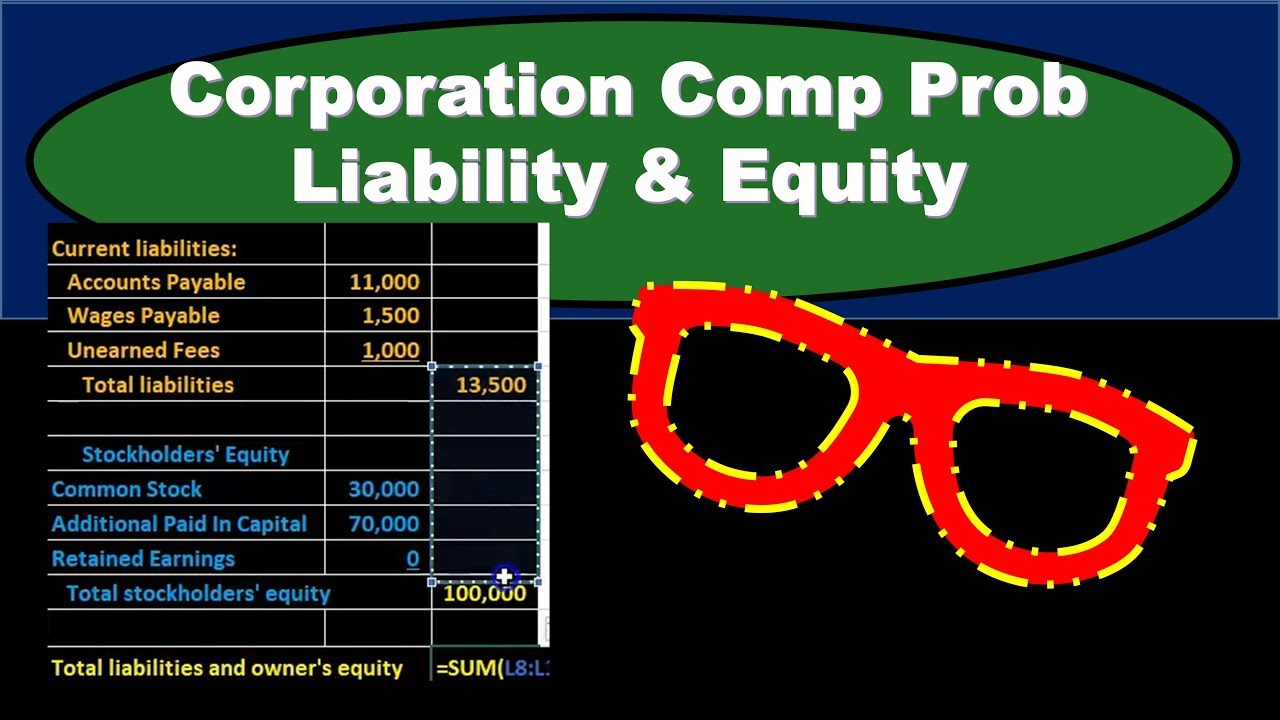 Corporation Comp Prob Liability & Equity