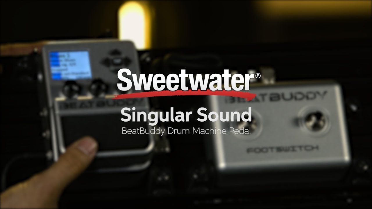 singular sound beatbuddy drum machine pedal demo youtube. Black Bedroom Furniture Sets. Home Design Ideas