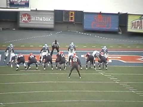 Tulsa Football Defense stops running attack 2011