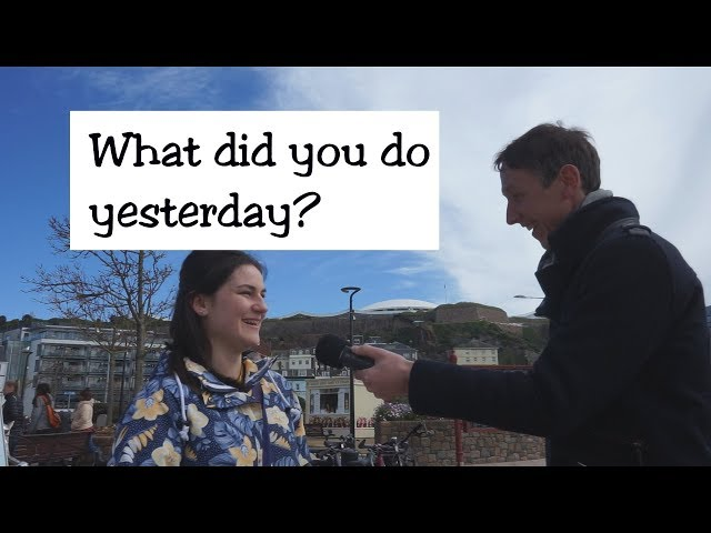 Interviewing people: what did you do yesterday?