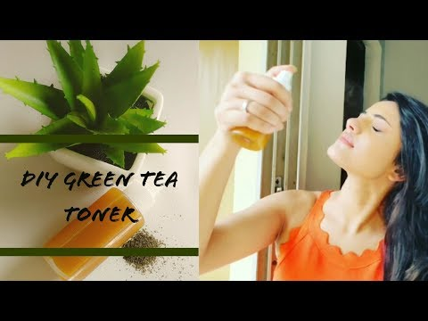 MY GO-TO RECIPE FOR ACNE-SPOTS    GREEN TEA TONER     GREEN BEAUTY ROUTINE