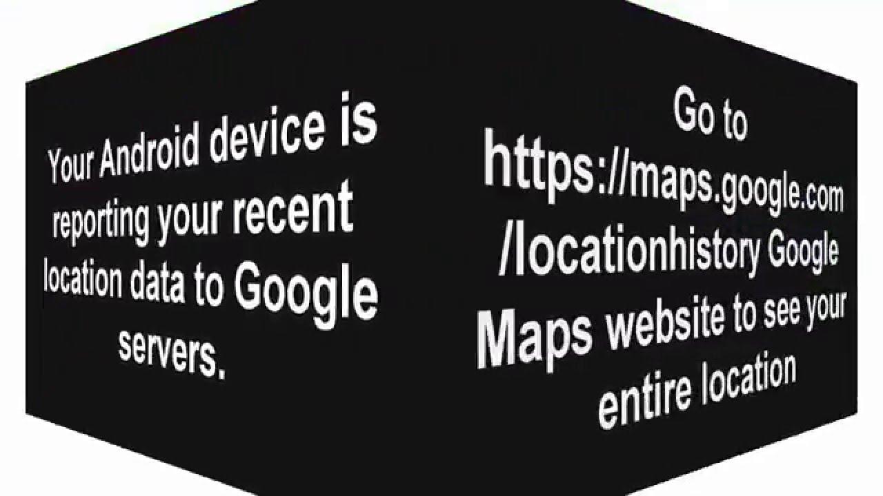 Google Maps Recent Locations on