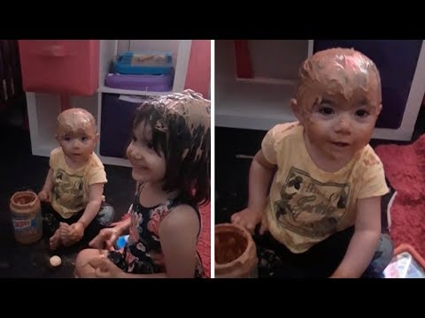 Kids Cover Themselves In Peanut Butter