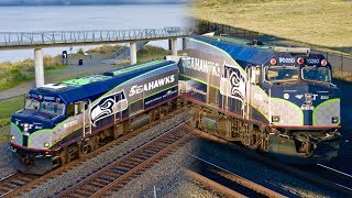 Seahawks Amtrak Cascades Cab Car 90250
