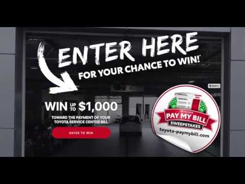 Toyota Bill Pay >> Peoria Toyota Service Enter To Win 1 000 Off Service Bill