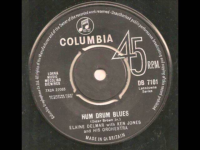Elaine Delmar with Ken Jones and His Orchestra - Hum Drum Blues
