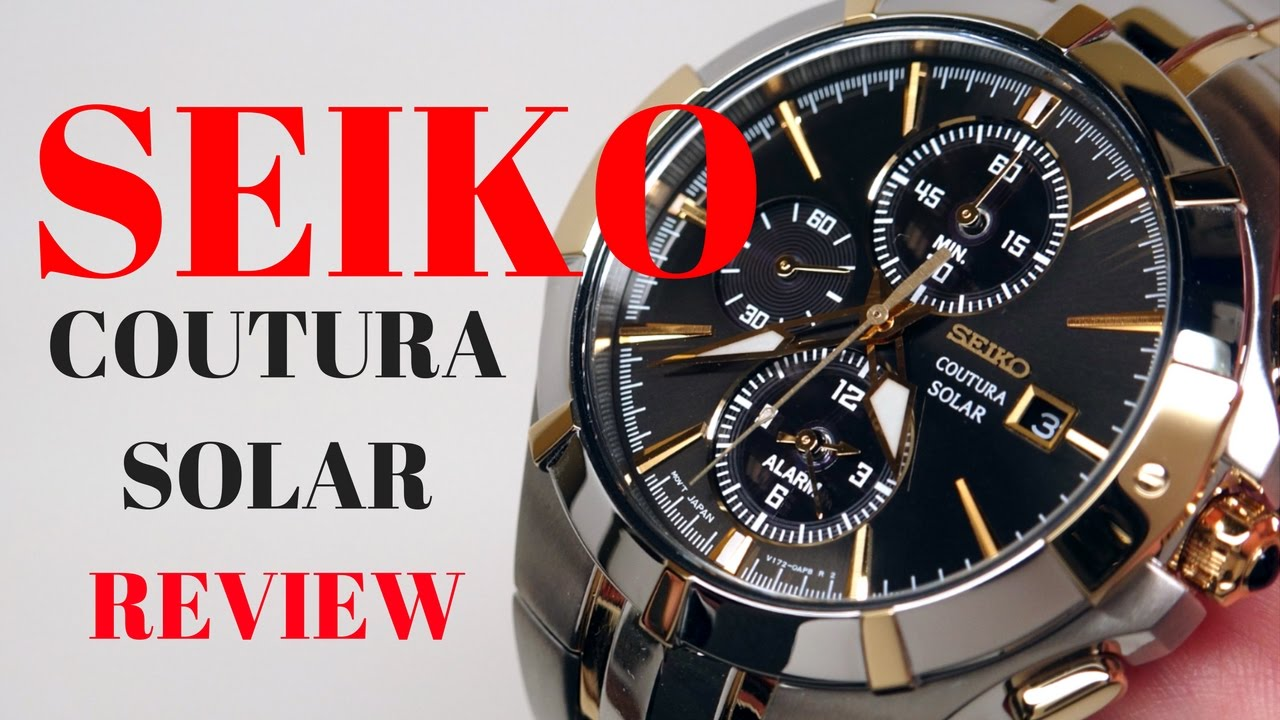 4k Seiko Coutura Solar Alarm Men S Watch Review Model Ssc198 Youtube