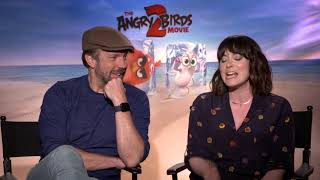 Jason Sudeikis & Rachel Bloom Raw Interview The Angry Birds Movie 2