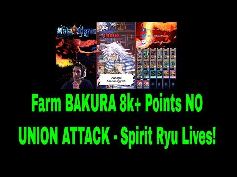 FARM Bakura 8k+ Points NO UNION ATTACK - Spirit Ryu Lives! YuGiOh Duel Links