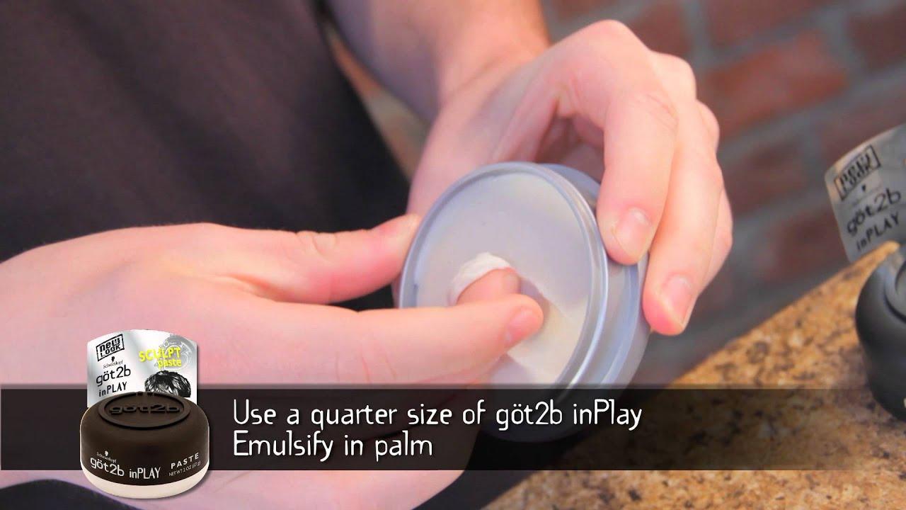Stylin How To Gt2b Inplay Sculpting Paste Youtube Schwarzkopf Got2b Playful Matt