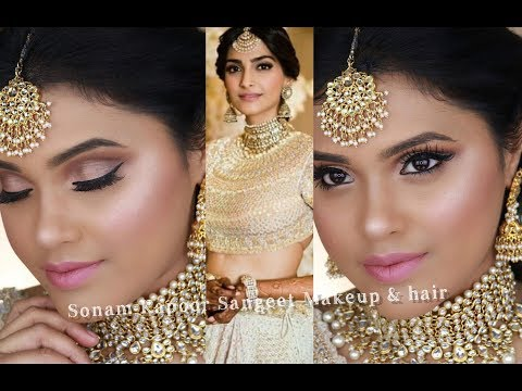 Sonam Kapoor Wedding Makeup & Hair Tutorial