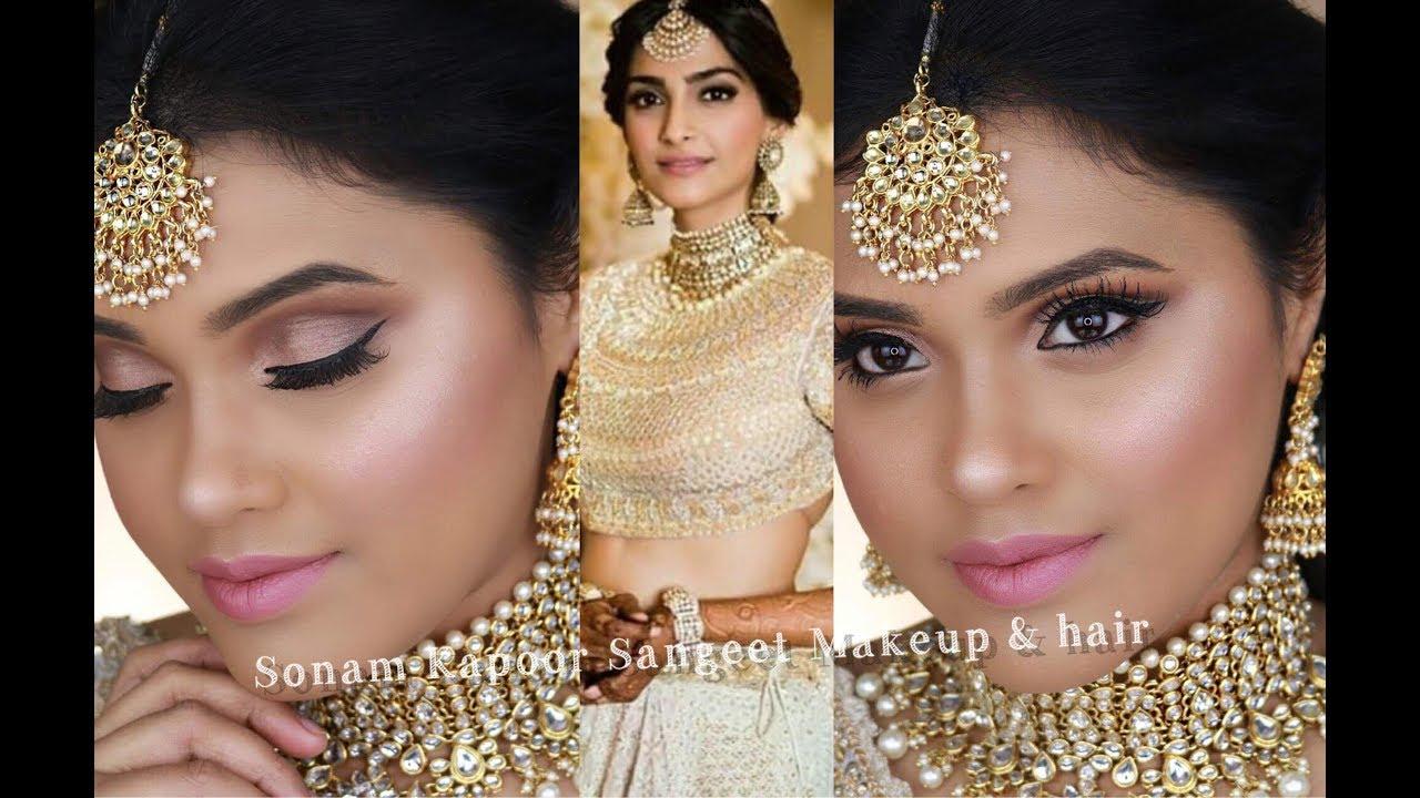3b89713a57 Sonam Kapoor Wedding Makeup & Hair| Sangeet| Mehendi| SONAM KAPOOR WEDDING|  BOLLYWOOD