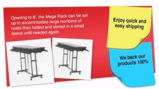 8' Mega Rak Folding Coat Rack - Ofconcepts.com