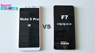 Oppo F7 vs Redmi Note 5 Pro Speed Test and Camera Compare