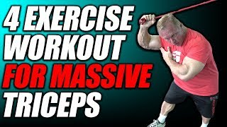 4 Exercise Mass Building Workout For Triceps 💪