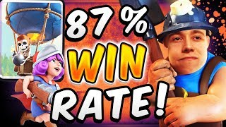 87% WIN RATE! BEST BALLOON CYCLE DECK! — Clash Royale